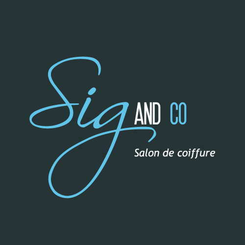 Logo Sig and co, coiffeur