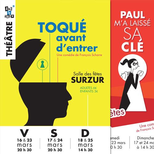 Affiches pour le théâtre de Surzur