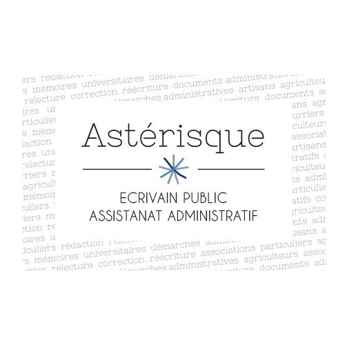 Carte de visite pour Asterisque