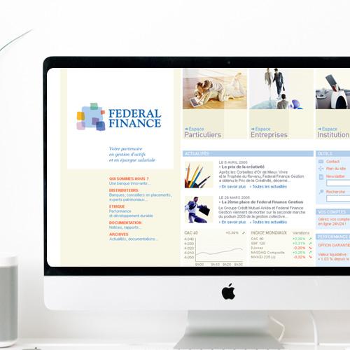 Design pour le site de Fédéral Finance
